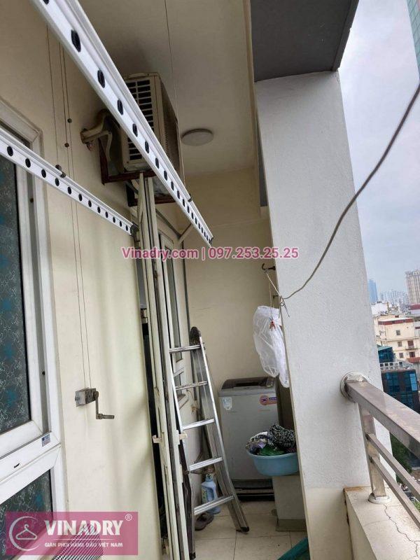 Hình ảnh sửa giàn phơi tại Đống Đa nhà anh Bình, chung cư Sunrise Tower - 04